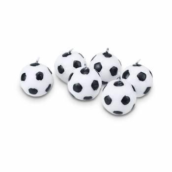 6 Bougies ballons de foot