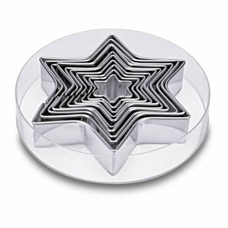 Kit 10 emporte pièces étoiles pour faire des deco de gâteau en pâte à sucre et des biscuits. Diamètre compris entre 3 cm et 13 cm En...
