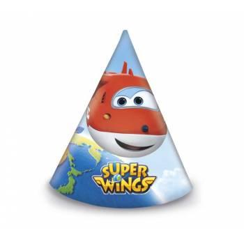 6 Chapeaux de fête Super Wings