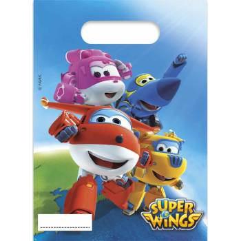 6 Sachets de fête Super Wings