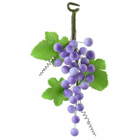 Grappe de raisin en pastillage pour décorer vos gâteau sur le thème de la vigne