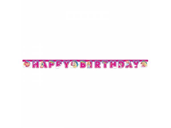 Guirlande Happy Birthday Barbie licorne