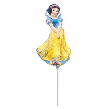 Mini ballon Princesse Blanche Neige gonflé