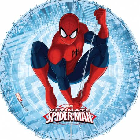 Disque azyme Spiderman 1 pour la déco de vos gâteaux d'anniversaire. Simple et rapide à poser, le disque azyme conserve un goût...