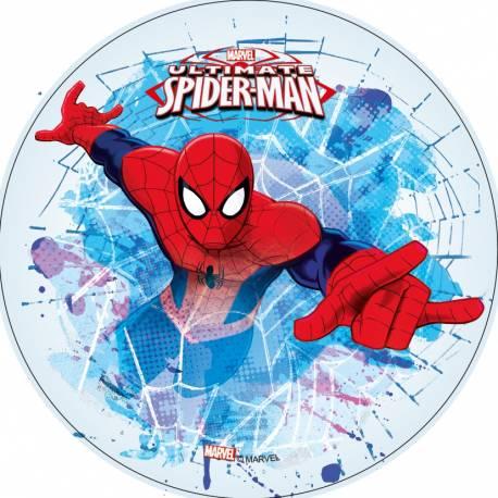 Disque azyme Spiderman 3 pour la déco de vos gâteaux d'anniversaire. Simple et rapide à poser, le disque azyme conserve un goût...