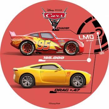 Disque azyme Cars Flash Mc Queen/cruz