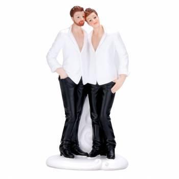 Figurine mariés homme détendu