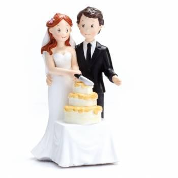 Figurine mariés gâteau