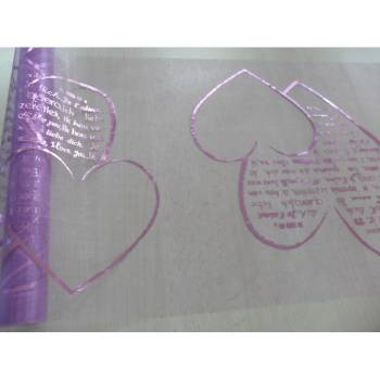 Chemin de table jetable Coeur lilas