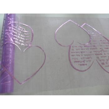 Chemin de table jetable Coeur lilas