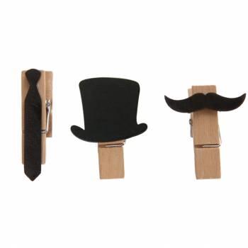 6 mini pinces gentleman