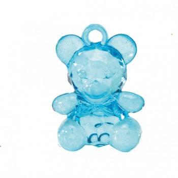 10 pendentifs oursons bleus