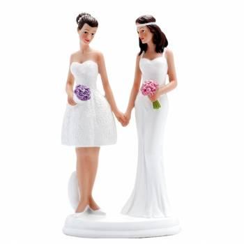 Figurine mariés couple femme moderne
