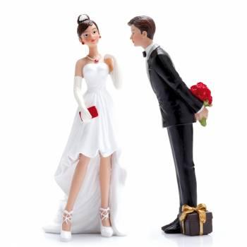 Figurine mariés chic