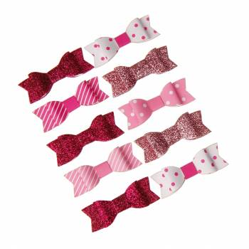 10 Noeuds rose et blanc assortis autocollant