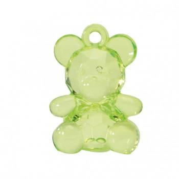 10 pendentifs oursons vert