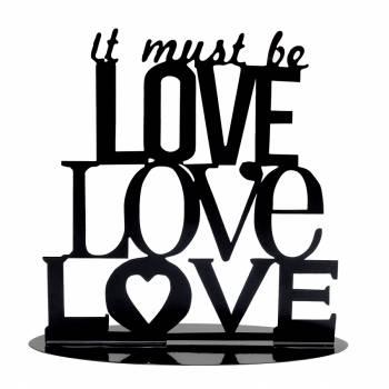 Figurine texte silhouette Love