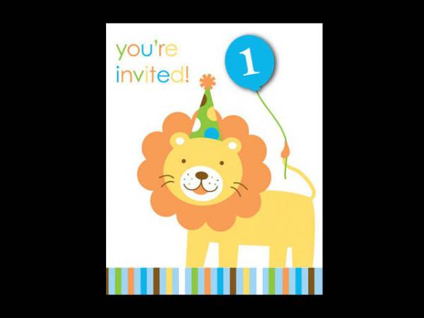 carte invitations anniversaire 1 an th me jungle. Black Bedroom Furniture Sets. Home Design Ideas