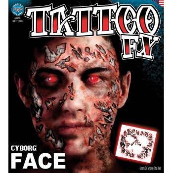 Tattoo faciale cyborg