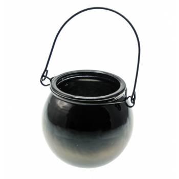 Bougeoir chaudron noir 13cm