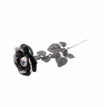 Rose noire pailleté globe occulaire