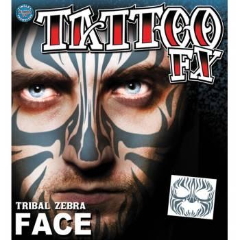Tattoo faciale zèbre tribal