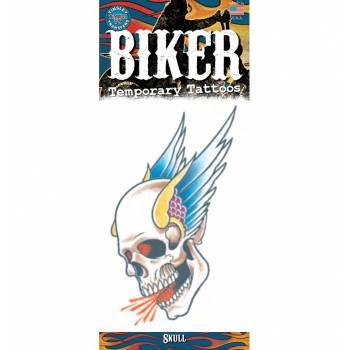 Tattoos Biker crâne aile