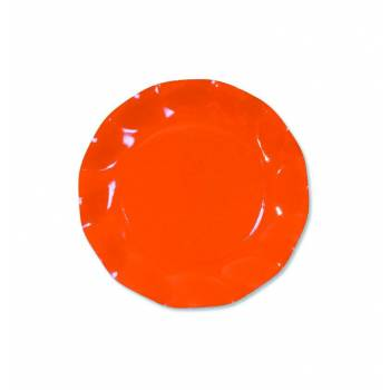 10 Assiettes corolle orange 21cm