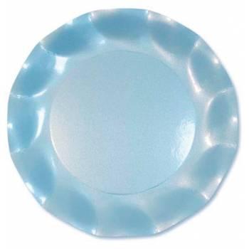 10 Assiettes corolle ciel perle 21cm
