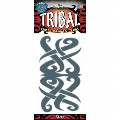 Tattoos éphémère tribal bornéo pour la décoration anniversaire de votre enfant.