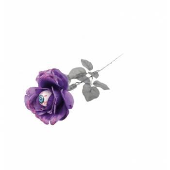 Rose violette pailleté globe occulaire