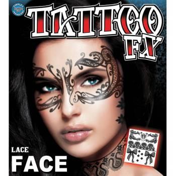 Tattoo faciale masque dentelle