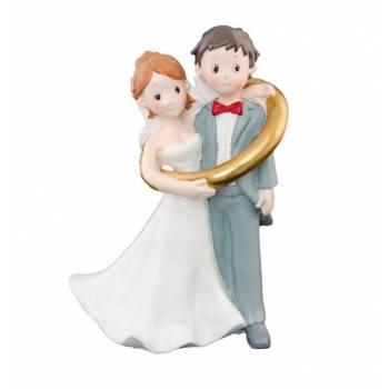Figurine Mariés alliance