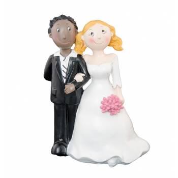 Figurine Mariés mixte homme black