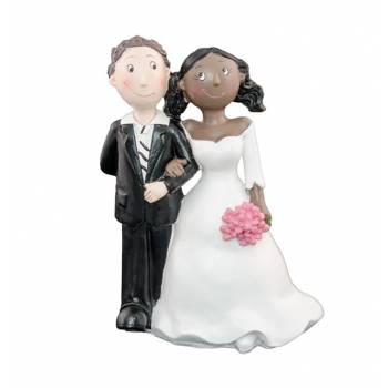 Figurine Mariés mixte femme black