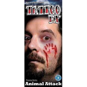 Planche Tattoo attaque animal