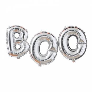 3 Ballons aluminium lettres BOO