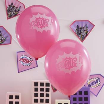 Ballons latex Super hero girl