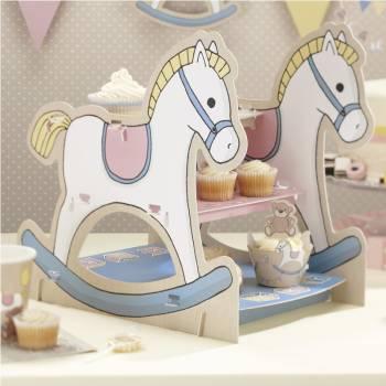 Présentoir à cupcakes cheval à bascule