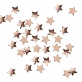 Confettis étoiles gold rose métallique