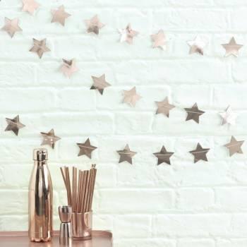 Guirlande étoiles gold rose métallique