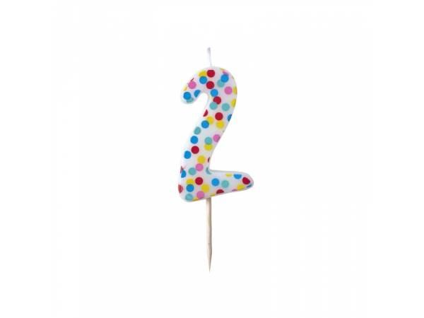 Bougie chiffre polka N°2