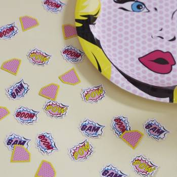 Confetti Superhero Pop Art girly