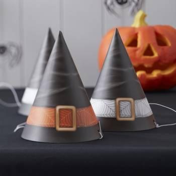 6 Chapeaux de fête sorcière
