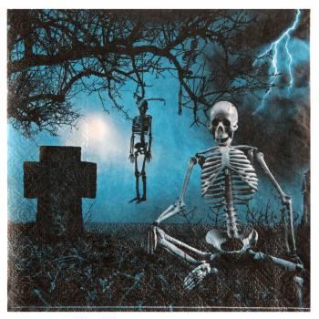 20 Serviettes en papier cimetière