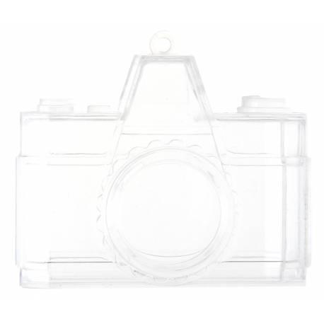 4 appareils photoen plexiglas à garnir idéal pour vos thèmes voyage, globe trotters... Dimensions :6 x 5.5 x 2.5 cm