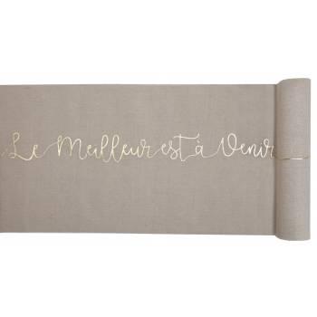 Chemin de table Petits bonheurs métallisés