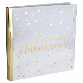 Livre d'or Joyeux anniversaire or
