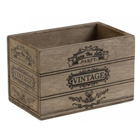 2 Mini cagette en bois vintage pouvant servir de contenant à dragées ou de déco de table Dimensions : 8 cm x 5 cm x 5 cm