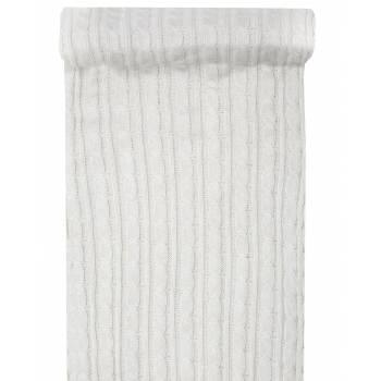 Chemin de table en tricot blanc